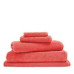 Sheridan - Bright orange 'Living Textures' towels