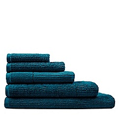 Sheridan - Bright blue 'Living Textures' towels