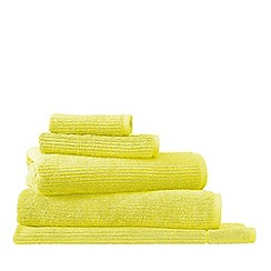 Sheridan - Bright yellow 'Living Textures' towels