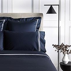 Sheridan - Navy 1200 thread count 'Palais lux' flat sheet