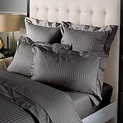 Sheridan - Dark grey 'Millennia 1200tc' 1200 thread count flat sheet
