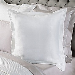 Sheridan - White 'Christobel' square cushion
