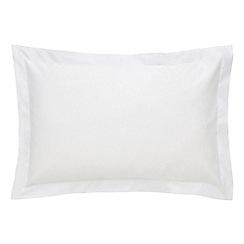 Sheridan - White '500 thread count cotton sateen' Oxford pillow case pair