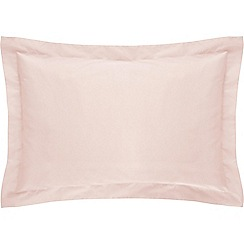Sheridan - Pale pink '500 thread count cotton sateen' Oxford pillow case pair