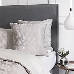 Sheridan - Pale grey 'Angelis' square pillow case