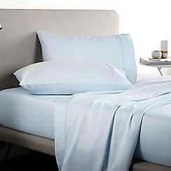 Sheridan - Pale blue 500 thread count 'Tencel' flat sheet