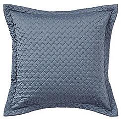Sheridan - Mid blue 'Lancet' square sham pillowcase