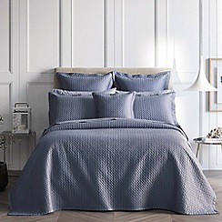 Sheridan - Mid blue 'Lancet' bedcover