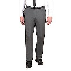 Red Herring - Charcoal semi-plain slim fit trouser