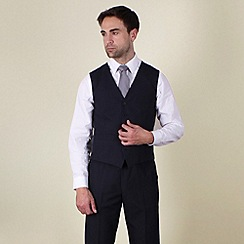 Karl Jackson - Navy plain weave regular fit waistcoat