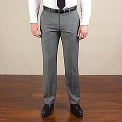 Ben Sherman - Silver grey semi-plain slim fit trouser