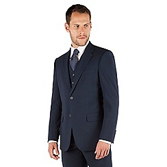 Jeff Banks - Navy plain weave regular fit 2 button travel suit jacket