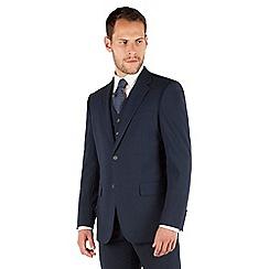 Jeff Banks - Navy plain weave regular fit 2 button travel suit jacket