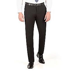 Red Herring - Black plain weave slim fit trouser