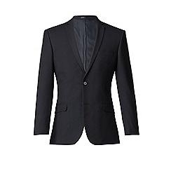 Thomas Nash - Navy plain weave slim fit 2 button suit jacket