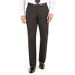 Thomas Nash - Charcoal plain regular fit suit trouser