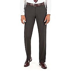 Thomas Nash - Charcoal plain weave tailored fit suit trouser