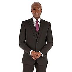 Thomas Nash - Black stripe tailored fit 2 button suit jacket