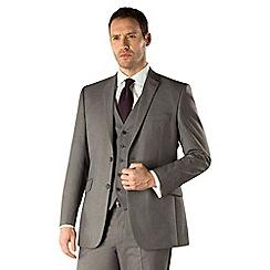Occasions - Grey plain weave regular fit 2 button suit