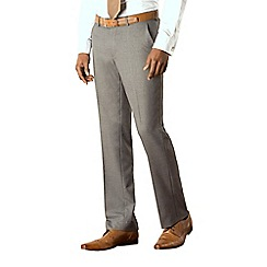 Occasions - Grey plain weave tailored fit trouser