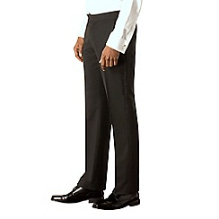 Occasions - Black plain weave tailored fit dresswear trouser