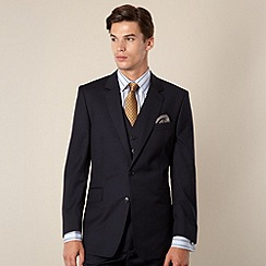 Hammond & Co. by Patrick Grant - Navy twill tailored fit 2 button jacket