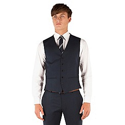Red Herring - Navy plain weave 5 button slim fit suit waistcoat