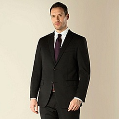 Jeff Banks - Black stripe 2 button regular fit suit jacket