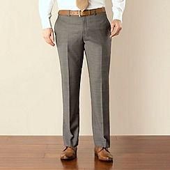 Jeff Banks - Grey pick and pick plain front regular fit suit trouser