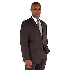 Karl Jackson - Grey stripe 2 button big&tall regular fit suit jacket