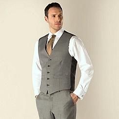 Karl Jackson - Grey semi plain 5 button waistcoat