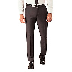 Red Herring - Charcoal semi plain slim fit suit trouser