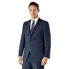 Jeff Banks - Blue mohair look 3 button front regular fit suit jacket