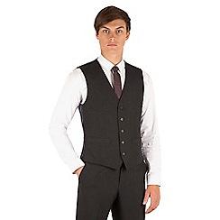 Thomas Nash - Charcoal plain 5 button waistcoat