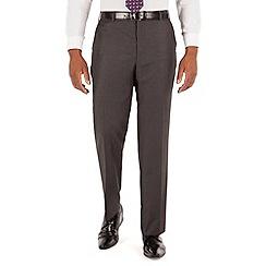 Centaur Big & Tall - Grey semi plain big and tall suit trouser