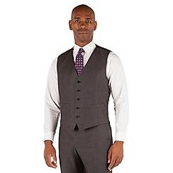 Centaur Big & Tall - Grey semi plain 5 button big and tall waistcoat