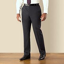 Centaur Big & Tall - Blue semi plain big and tall suit trousers