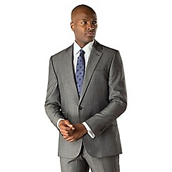 Stvdio by Jeff Banks - Grey twill 1 button front tailored fit suit jacket