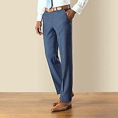 Stvdio by Jeff Banks - Blue semi plain cloth plain front tailored fit suit trouser