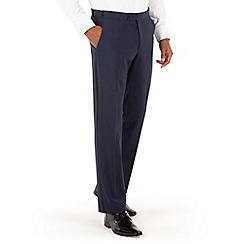 Stvdio by Jeff Banks - Navy plain plain front tailored fit dinner suit trouser