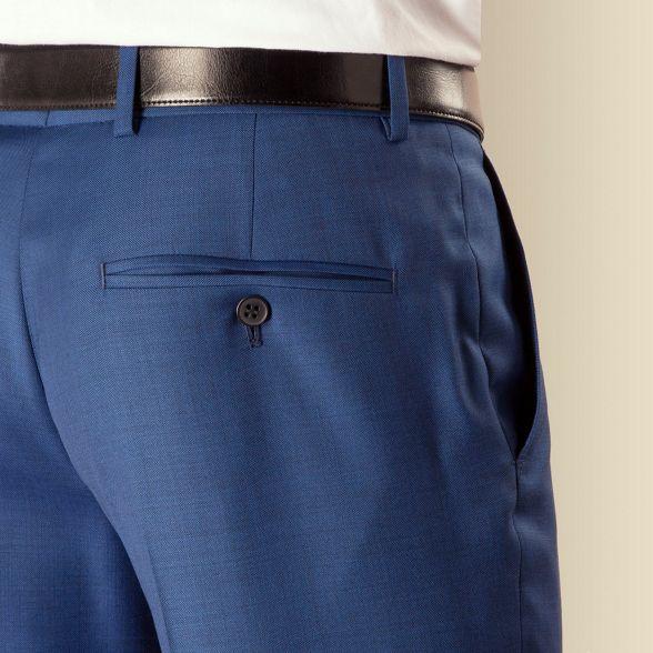pick plain Sherman slim Ben kings and suit fit trouser front pick Blue xAOwS