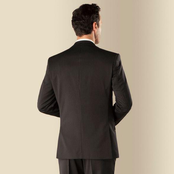 Cardin fit Black regular suit 2 stripe Pierre front jacket button 47AFndq4wv