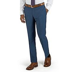 Racing Green - Bright blue semi plain plain front tailored fit suit trouser
