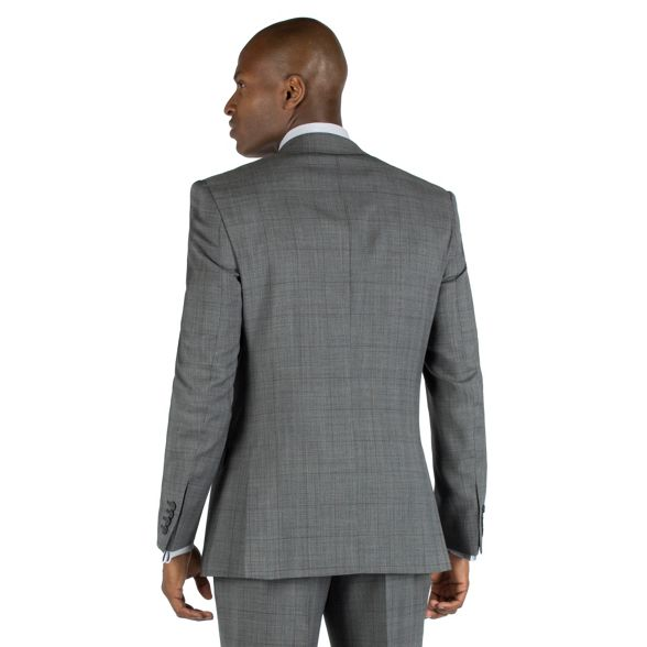 with jacket check front Racing suit button tailored fit Green Grey 2 overcheck burgundy EqEt7A