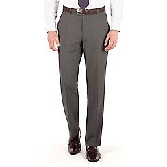 Thomas Nash - Grey narrow stripe regular fit suit trouser