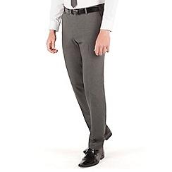 Thomas Nash - Grey narrow stripe 2 button slim fit suit trouser