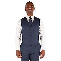 Centaur Big & Tall - Blue semi plain 5 button front suit waistcoat