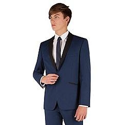 Red Herring - Blue slim fit 1 button shawl collar dresswear jacket