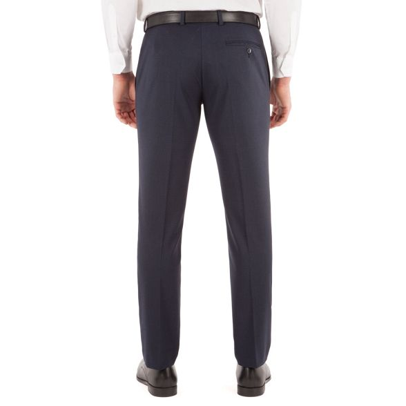 Red slim Blue trouser fit plain check Herring suit front rxraqFXn