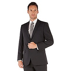 Pierre Cardin - Navy check 2 button front regular fit suit